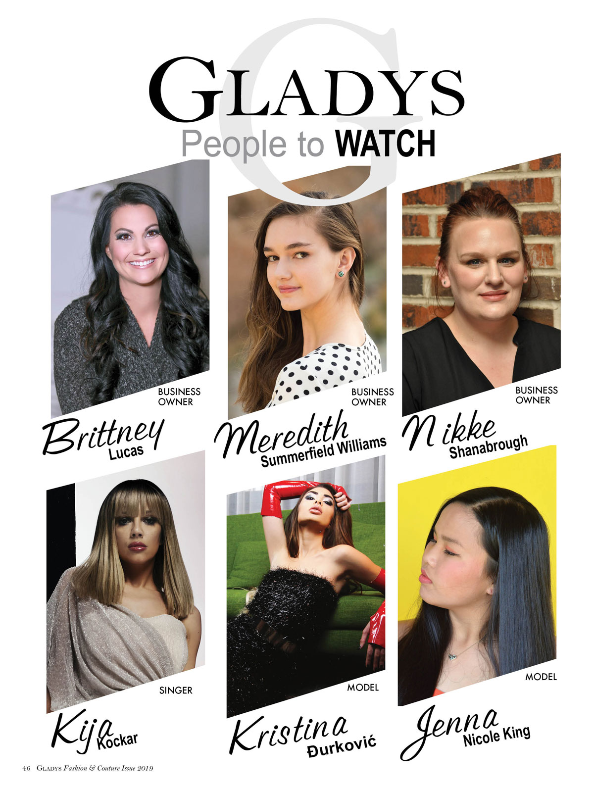 Gladys People to Watch Opener
