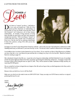 2019 Love Issue Editor's Letter